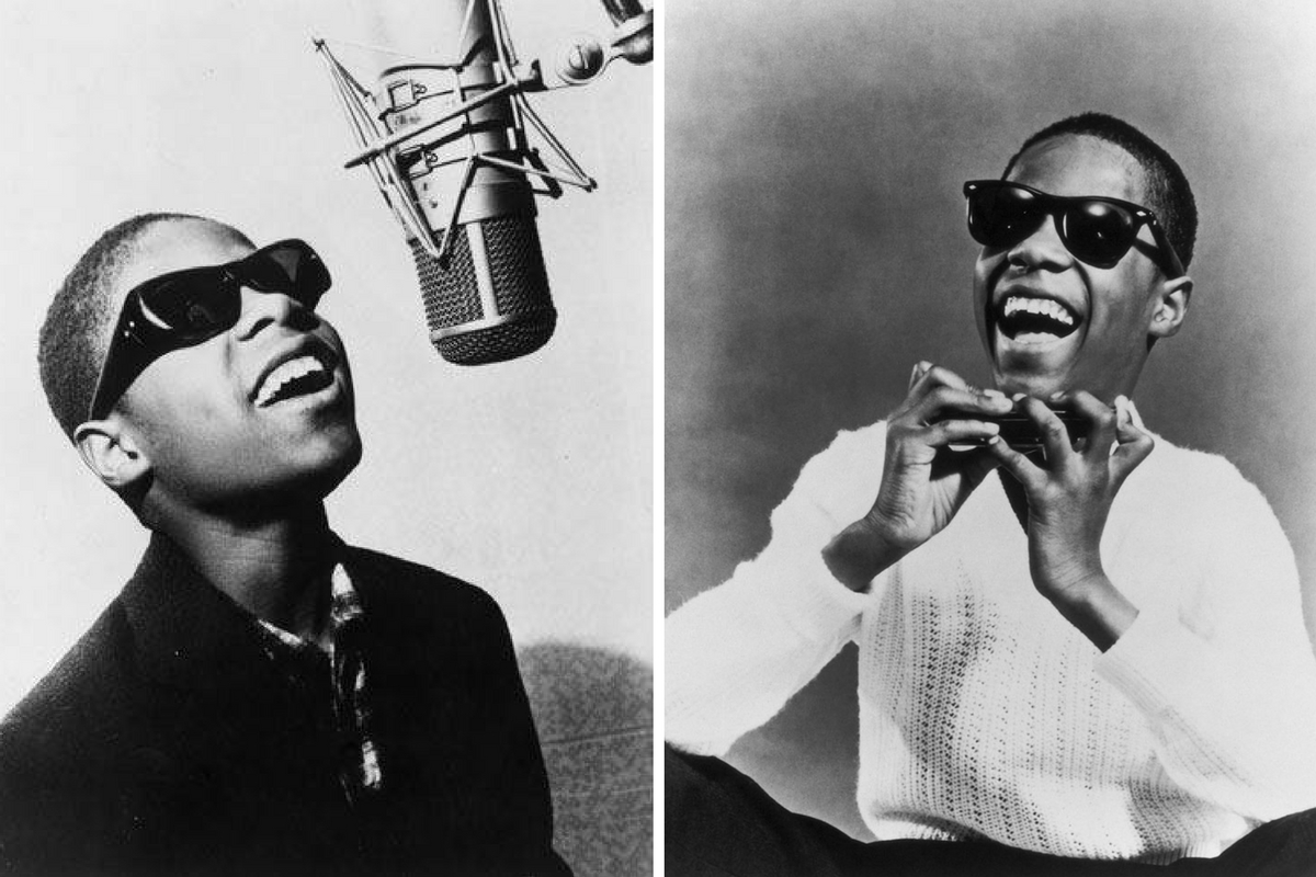 """Little"" Stevie Wonder in 1961 and 1963. Credit: Wikipedia"